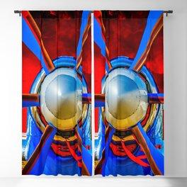 Blue propeller Blackout Curtain