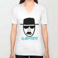chemistry V-neck T-shirts featuring Chemistry by John Michael Gill