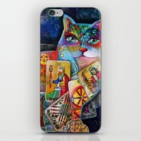 tarot iPhone & iPod Skins featuring Tarot cat by oxana zaika