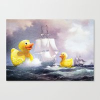 thegnarledbranch Canvas Prints featuring Terror on the High Seas II by TheGnarledBranch