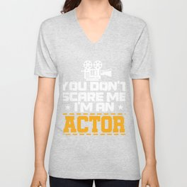 Actor Acting Actress Movie Rehearsal Clapperboard Gift Unisex V-Neck