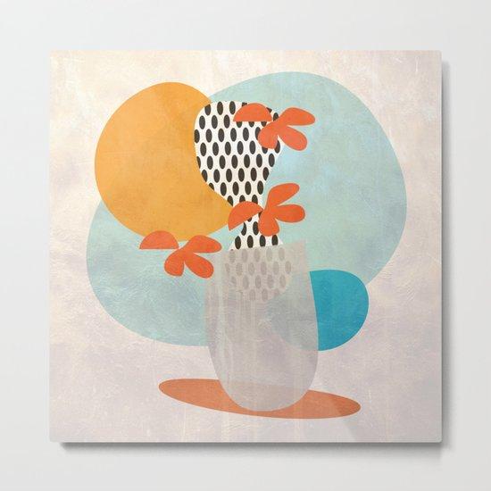 Cactus in a vase Metal Print