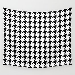 Houndstooth (Black & White Pattern) Wall Tapestry