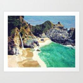 McWay Falls Big Sur California Art Print