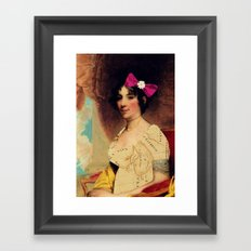 The vintage traveler Framed Art Print
