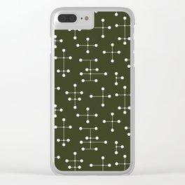 Atomic Era Dots 27 Clear iPhone Case