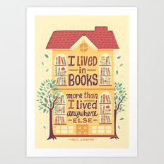 Lived in books Art Print