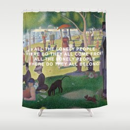 A Sunday Afternoon with Eleanor Rigby Shower Curtain