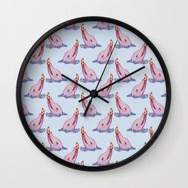 dolphin loves pizza Wall Clock