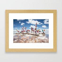 Salar de Uyuni International Flags Framed Art Print