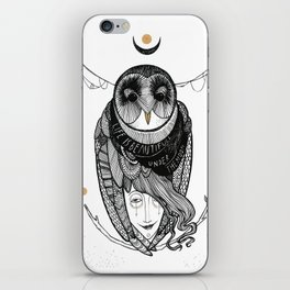 bird women iPhone Skin
