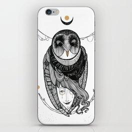 bird women iPhone Skin