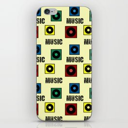 Music design iPhone Skin