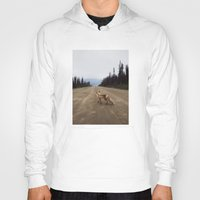 canada Hoodies featuring Road Fox by Kevin Russ