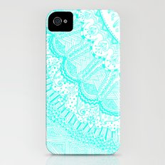 Doodle Madness AQUA iPhone (4, 4s) Slim Case