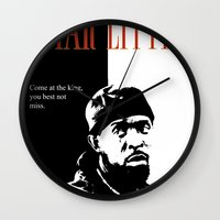 scarface Wall Clocks featuring Omar Little [Scarface] The Wire by D-fens