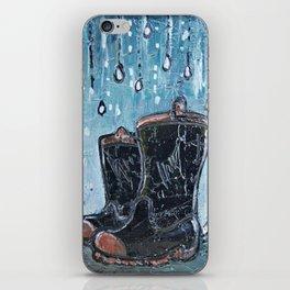 Rainy Day Wellies iPhone Skin