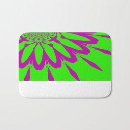 The Modern Flower Green & Purple Bath Mat