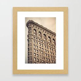 New York: Flatiron Color Framed Art Print