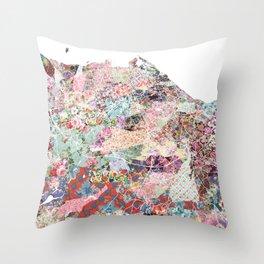 Edinburgh map Throw Pillow