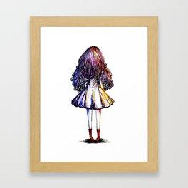 Faceless Girl and Red Doc Framed Art Print