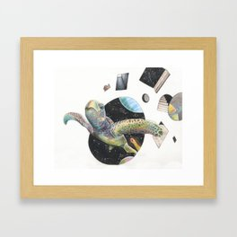 Space Turtle Framed Art Print