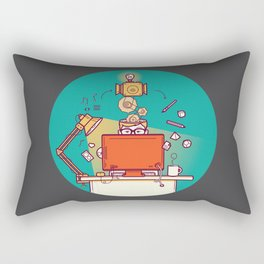 Designer at work Rectangular Pillow