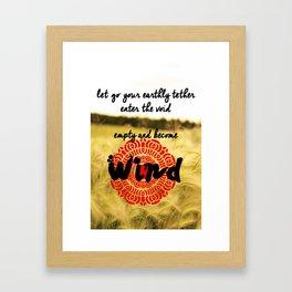 Red Lotus Framed Art Print