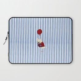French Bulldog with Stripe Laptop Sleeve