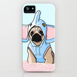 Pug Elephant Costume iPhone Case