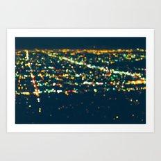 LA Stars Art Print