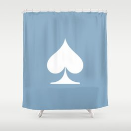 spade sign on placid blue background Shower Curtain