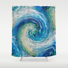 Wave to Van Gogh III Shower Curtain