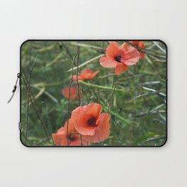 RED POPPY FLOWERS - Isle Ruegen Laptop Sleeve