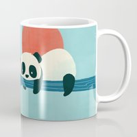 pandas Mugs featuring Pandas by Jay Fleck