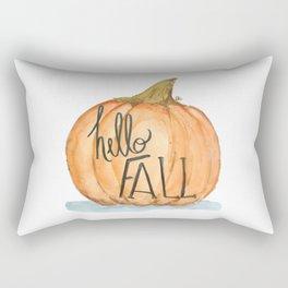 Hello fall pumpkin Rectangular Pillow