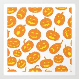 Jack-O-Lanterns Art Print