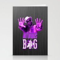 2pac Stationery Cards featuring Notorious Big by Gold Blood