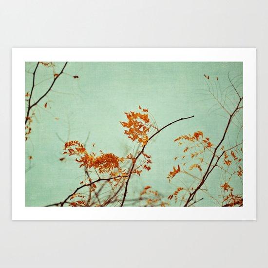 autumn happenings Art Print