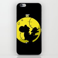 mario kart iPhone & iPod Skins featuring Yoshi and Baby Mario ( super mario bros ) by TxzDesign