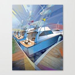 Sportfishing Boats Canvas Print