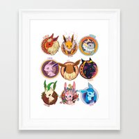 eevee Framed Art Prints featuring Eevee by 1234