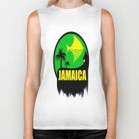jamaica Biker Tanks featuring JAMAICA VACATION  by Robleedesigns
