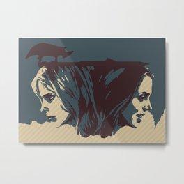 Buffy & Faith Metal Print