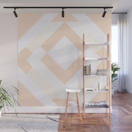 Diamond Taupe Wall Mural