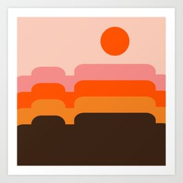 Honey Hills Art Print