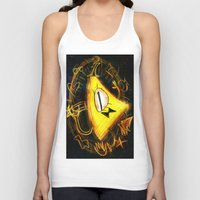 bill cipher Tank Tops featuring Bill Cipher by Beejutsu