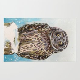 Winter Owl Rug