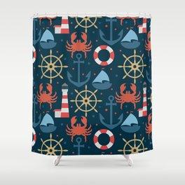 Sea blue pattern Shower Curtain