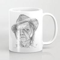neil gaiman Mugs featuring Neil Young by Mark T. Zeilman